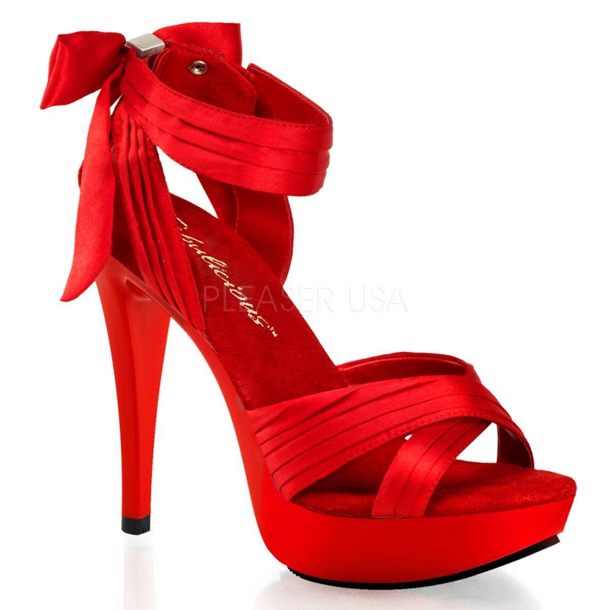 ac8653f9d302 COCKTAIL-568 Elegantní červené společenské sandálky na jehlách s mašlí