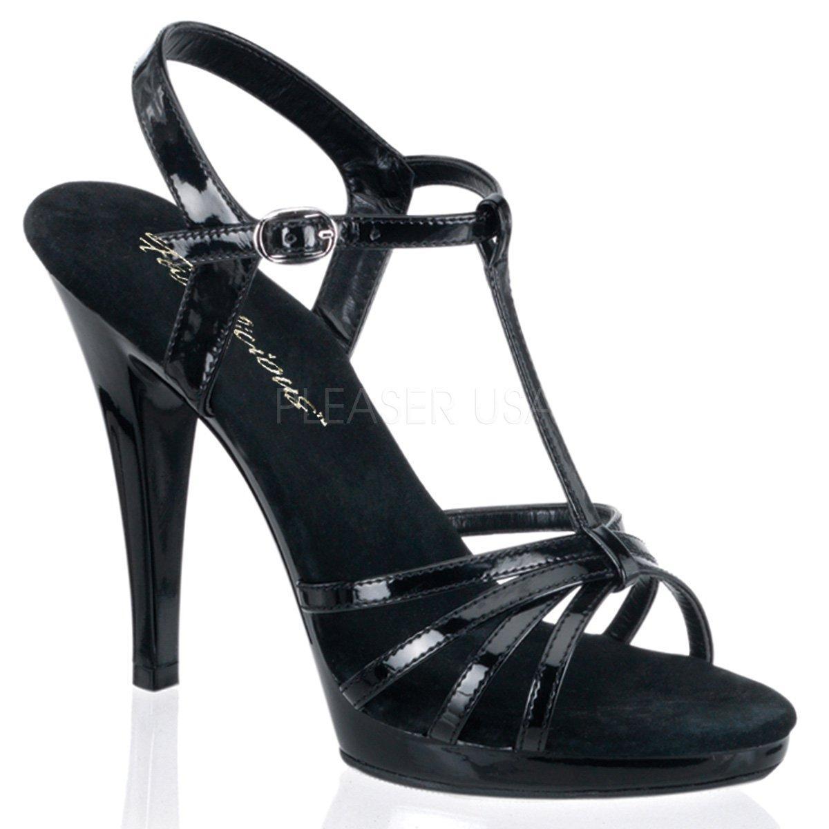 1b139313fcf FLAIR-420 Černé páskové plesové sandálky na podpatku