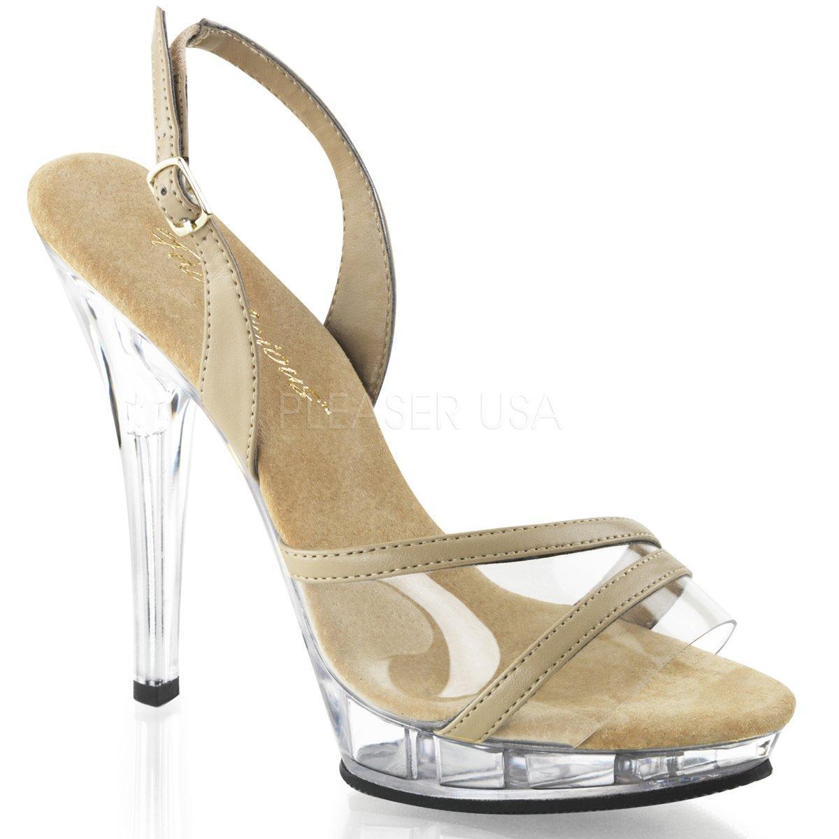 54ec9abcb7 LIP-137 Béžové společenské sandálky na vysokém podpatku