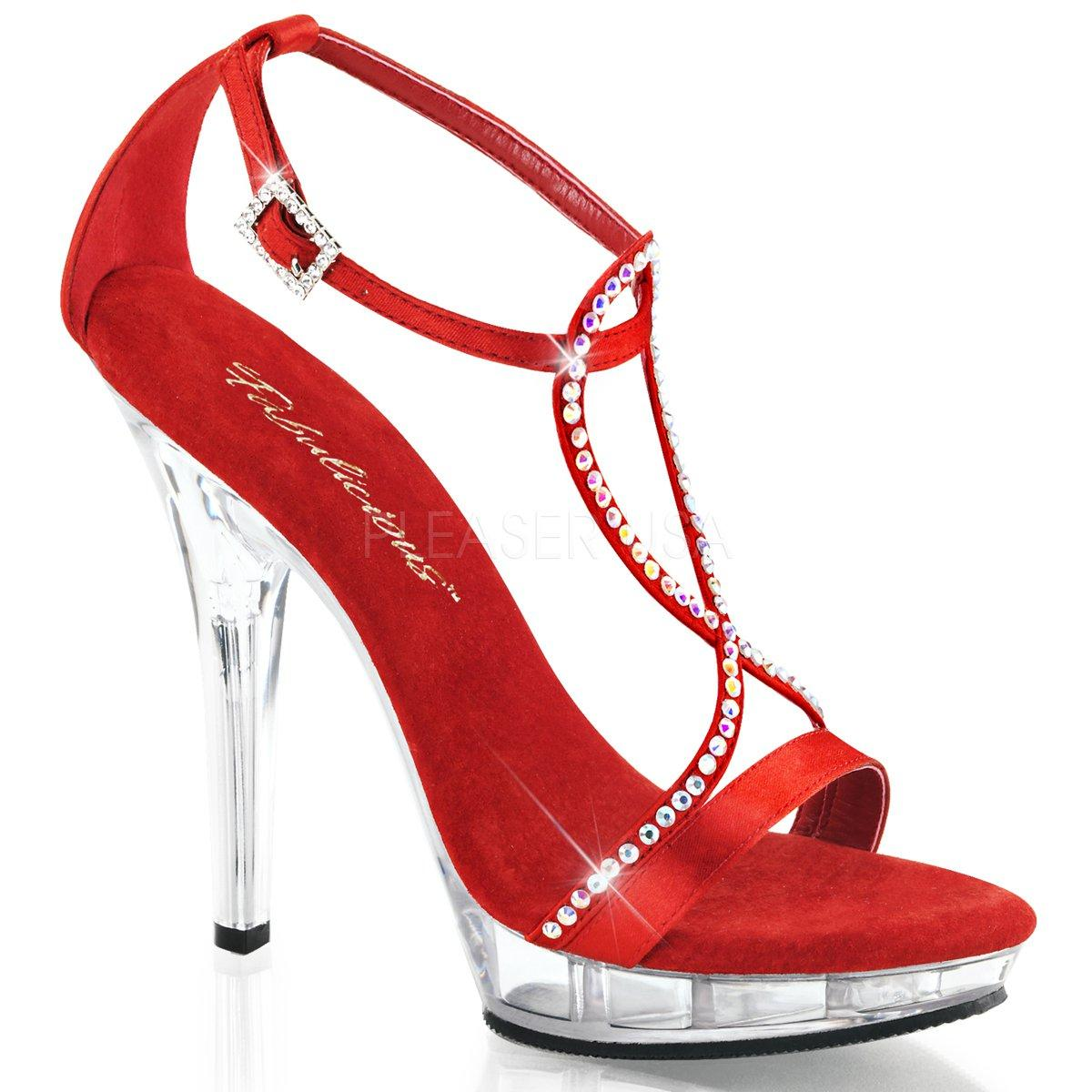 LIP-156 Červené společenské sandálky s páskem přes nárt zdobeným kamínky a112e6f16c