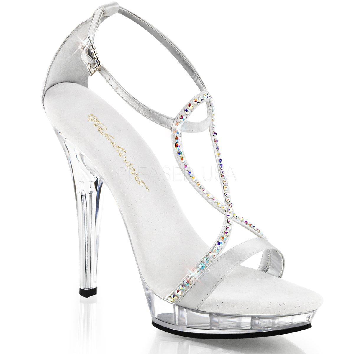 d1868275dea LIP-156 Stříbrné společenské sandálky s páskem přes nárt zdobeným kamínky
