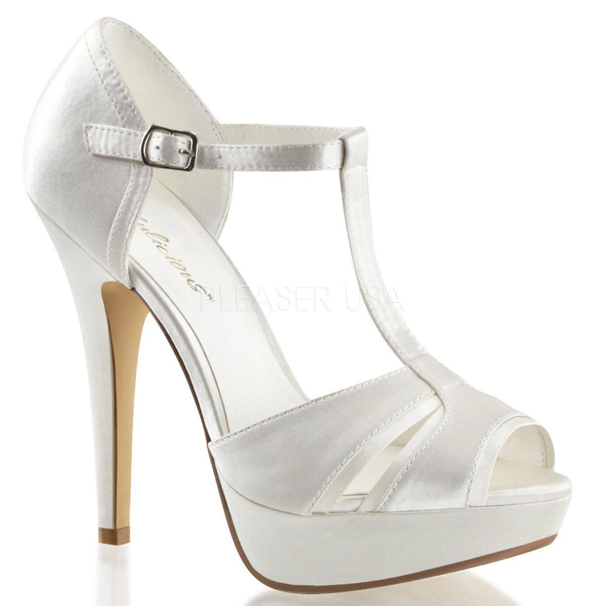 LOLITA-20 Smetanové dámské páskové boty na vysokém podpatku ... bfa63c8328