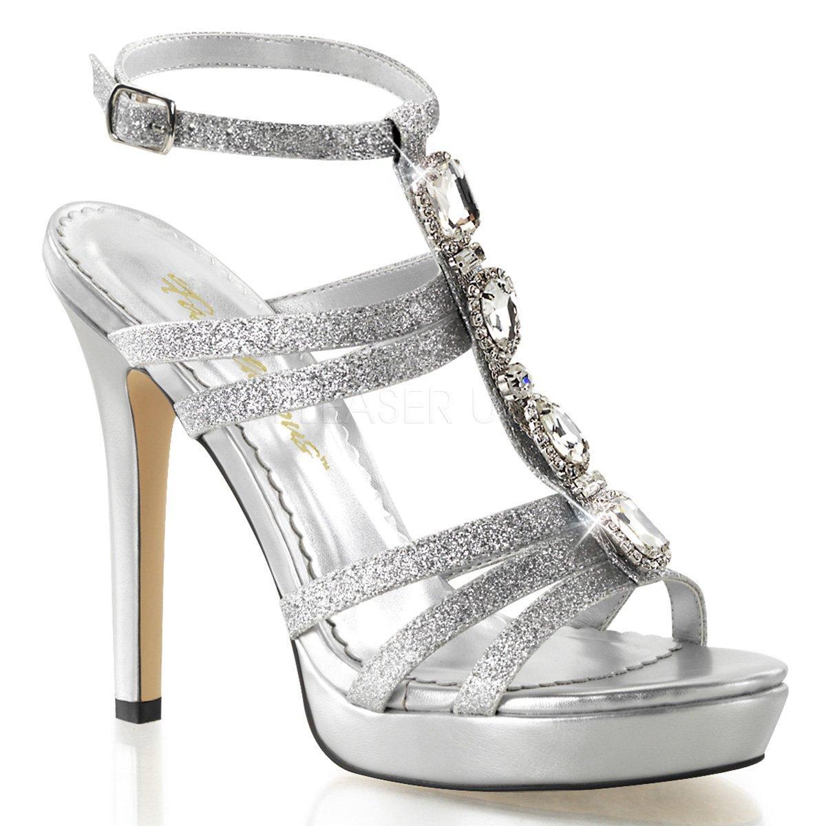 6475398b4c LUMINA-22 Stříbrné společenské páskové sandálky bohatě zdobené kameny