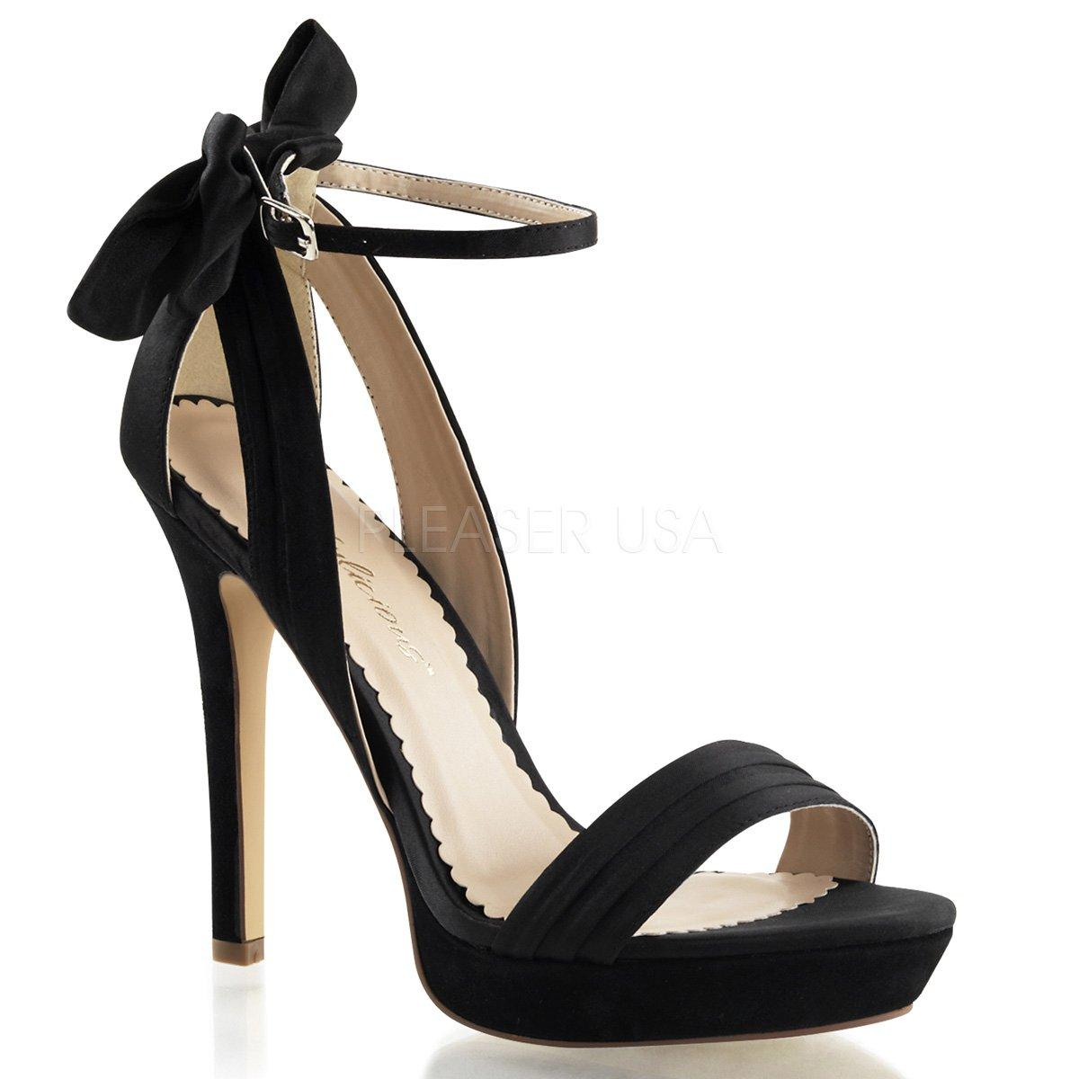 LUMINA-25 Elegantní černé společenské sandálky na vysokém podpatku ... 9692b7a3ea