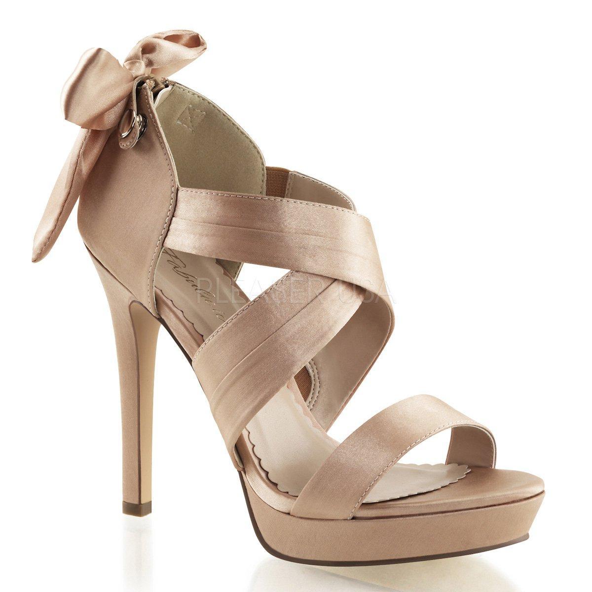 LUMINA-29 Luxusní krémové páskové sandálky s mašlí na vysokém podpatku 5f3462c071