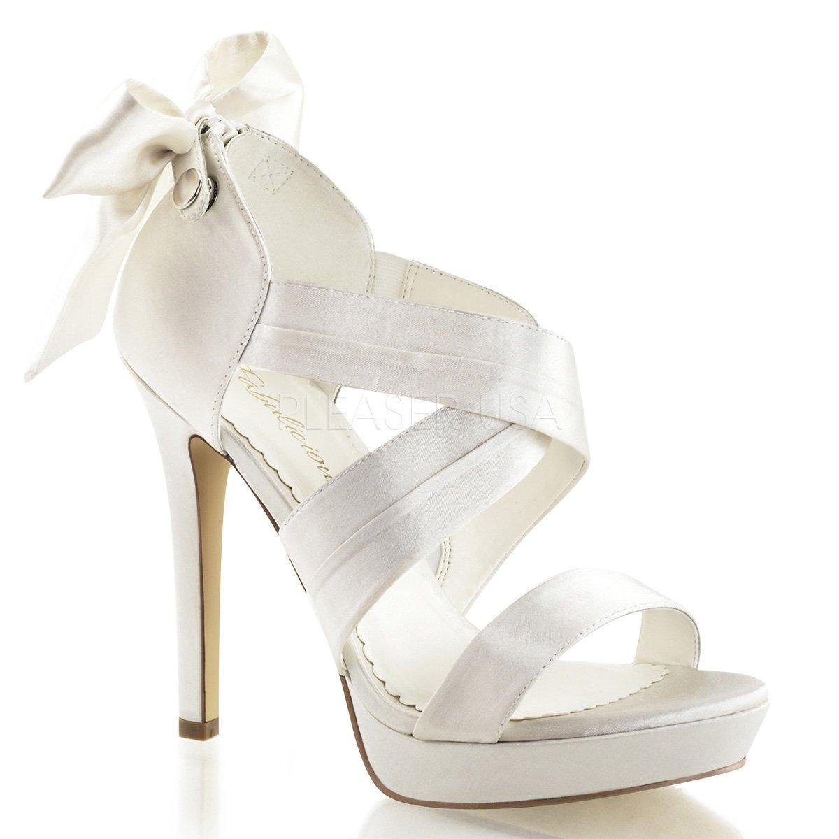 LUMINA-29 Luxusní bílé páskové sandálky s mašlí na vysokém podpatku ... bfe10ca911