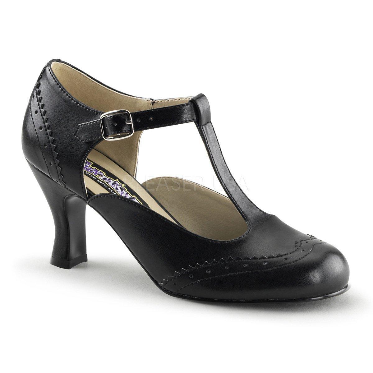 23e0e7b60267 FLAPPER-26 Černé kožené dámské boty na nízkém podpatku
