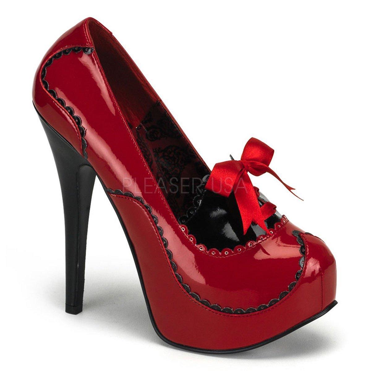fd93888d6340 Luxusní lesklé červené lodičky na vysokém podpatku TEEZE-01 ...