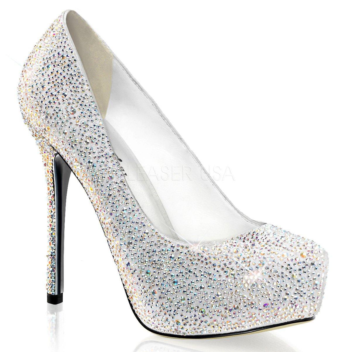 49fd527c4f9 ... boty na podpatku. 1.899 Kč. PRESTIGE-20 Luxusní stříbrné třpytivé  lodičky s kamínky na jehlách