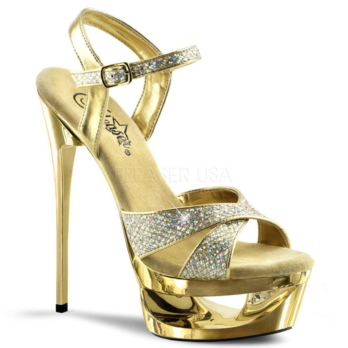 ECLIPSE-619G Zlaté luxusní sandálky na jehlovém podpatku  d1e1f10811