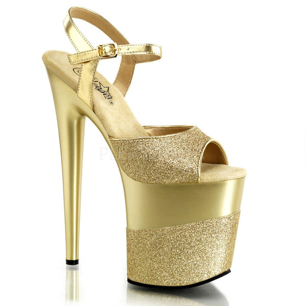 7eace9bb62c FLAMINGO-809-2G Zlaté sandálky na extrémní platformě a jehlách ...