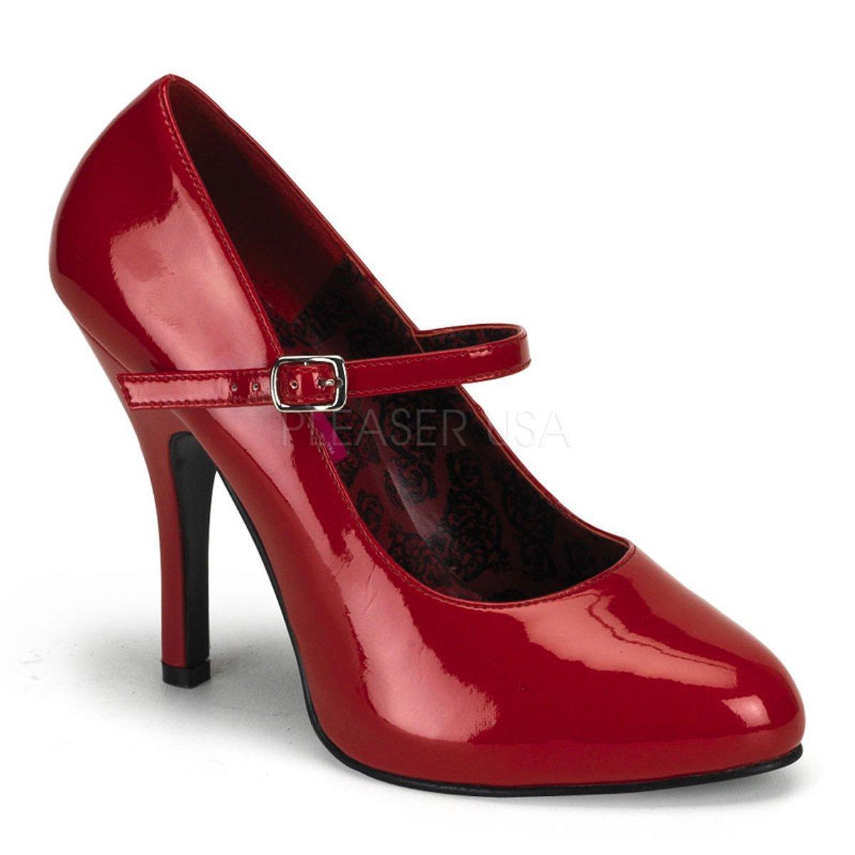 SEXY-21 Elegantní červené lakované společenské boty na podpatku ... c6cdcefd3d