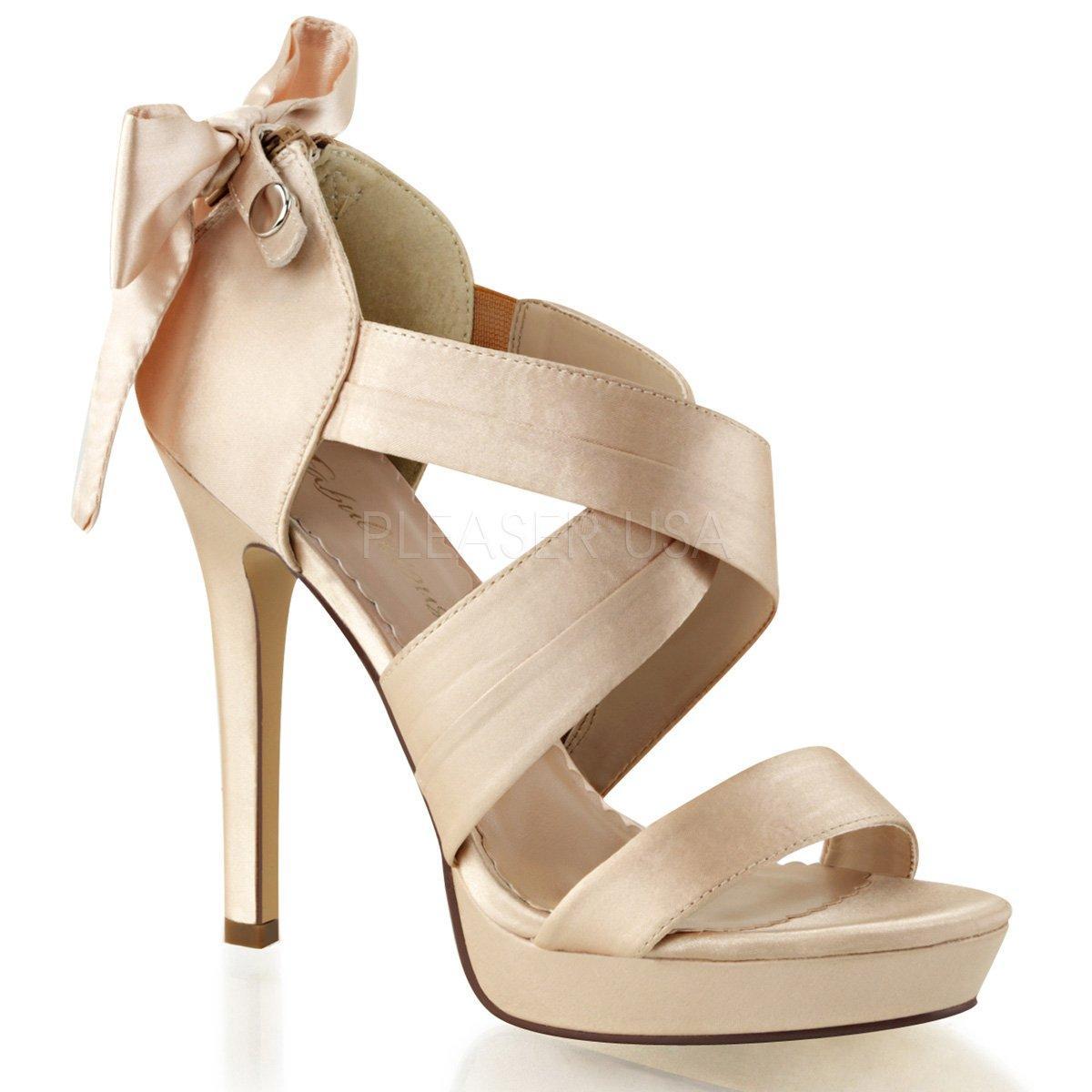 LUMINA-29 Luxusní svatební krémové sandálky na podpatku  efcfb6c6da