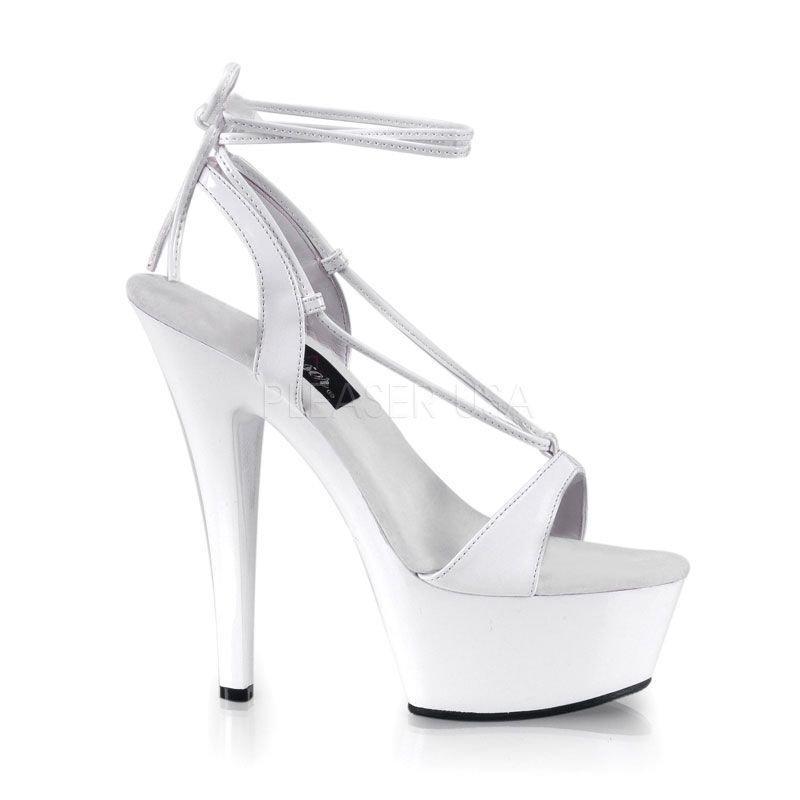 40a1e843f1ac KISS-211 Bílé páskové sexy boty na vysokém podpatku