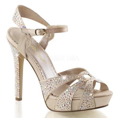 efd94be88fb8 LUMINA-23 Luxusní zlaté plesové sandálky na podpatku zdobené kamínky ...
