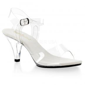 BELLE-308 Průhledné dámské sandálky na nízkém podpatku 016a1a4c91
