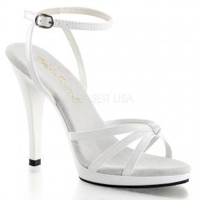 357f9a13d15 FLAIR-436 Bílé společenské sandálky na podpatku s páskem okolo kotníku