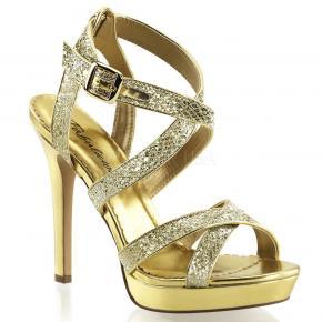 359a7f18498 LUMINA-21 Zlaté společenské páskové sandálky na vysokém podpatku