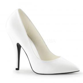 SEDUCE-420 Klasické bílé matné lodičky na podpatku d209952525