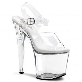 6c483d63785 TABOO-708 Luxusní průhledné strip sandálky na velmi vysokém podpatku a  platformě