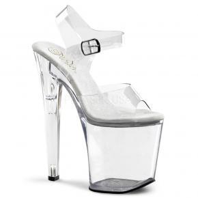 a2ae041c1535 XTREME-808 Sexy průhledné strip sandálky na velmi vysokém podpatku a  platformě